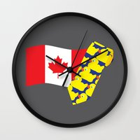himym Wall Clocks featuring HIMYM Couples - Barney & Robin by Raye Allison Creations