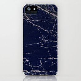 Blue Marble Crease Texture Design iPhone Case