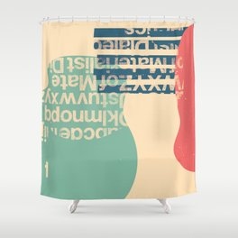 gum letter Shower Curtain