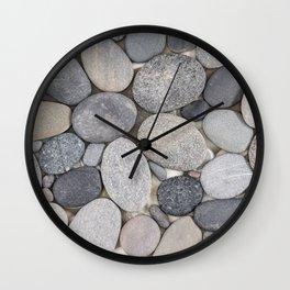 Smooth Grey Pebble Minimalistic Zen  Wall Clock