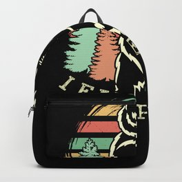 I Eat People Bear Camping I Hate People Nature Backpack