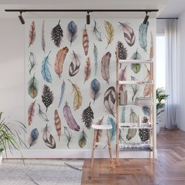Many Feathers Wall Mural