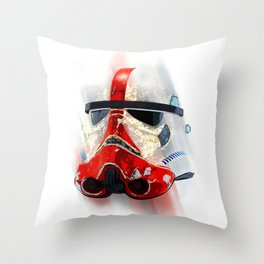 War Troopers in Universe White Throw Pillow