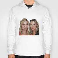 sisters Hoodies featuring Sisters by Saoirse Mc Dermott