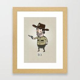 rick Framed Art Print