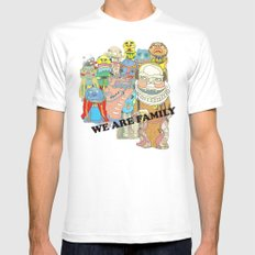 WE ARE FAMILY! MEDIUM Mens Fitted Tee White