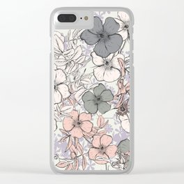 Flower vintage design with wild roses in english style Clear iPhone Case