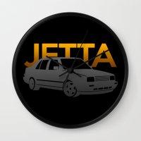 volkswagen Wall Clocks featuring Volkswagen Jetta by Vehicle
