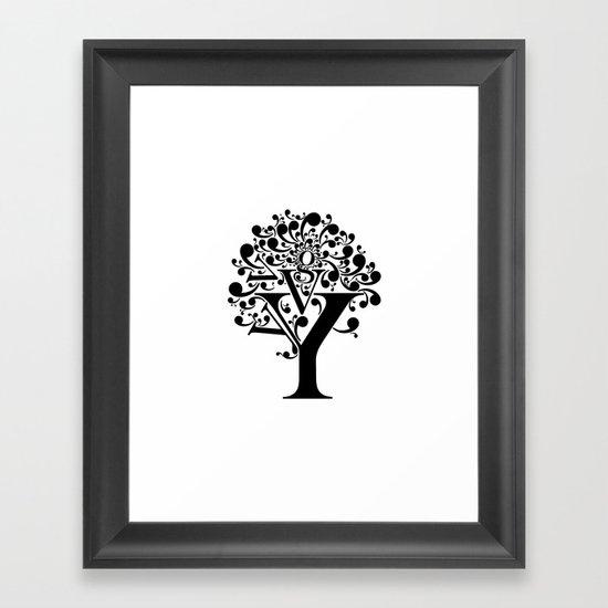 g tree Framed Art Print
