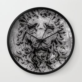 Heraldic lion Wall Clock