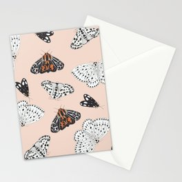 Muted Illustrated Moth Pattern Stationery Cards