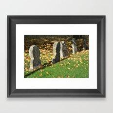 Autumnal Gravestones Framed Art Print