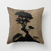 safari Throw Pillows featuring Safari by Last Call