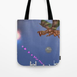 War Stars: Sparkle and flame Tote Bag