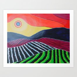A Modern Winery Art Print