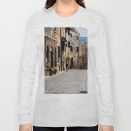 Alleyway in a top-hill medieval village Long Sleeve T-shirt