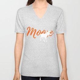 Unique Moose Graphic T-Shirt Unisex V-Neck