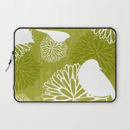 Pom Poms & Birds in Green by Friztin Laptop Sleeve