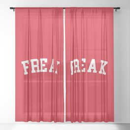 Freak Funny Quote Sheer Curtain