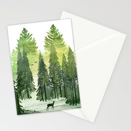 Green Forest Stationery Cards