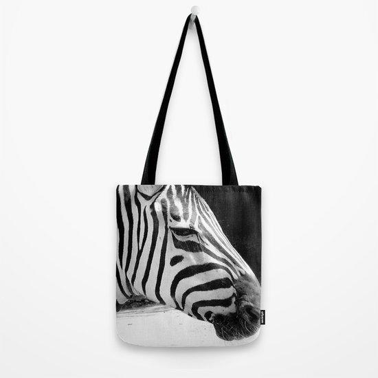 b&w zebra Tote Bag