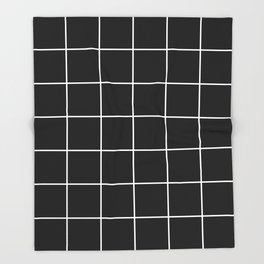 BLACK AND WHITE GRID Throw Blanket