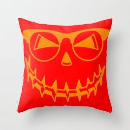 Halloween pumpkin face horror party gift Throw Pillow