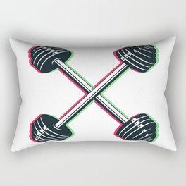 Crossed barbells Rectangular Pillow