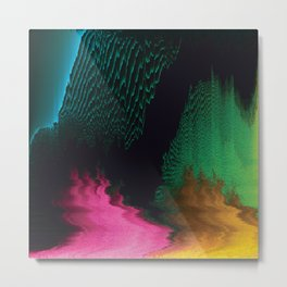 Dreamscape - Glitch Art Metal Print