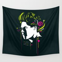 niall Wall Tapestries featuring One Illustration - Niall by Art of Nanas