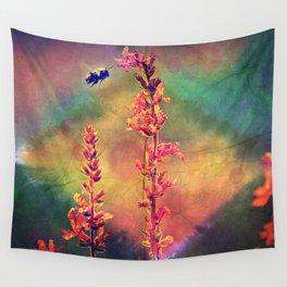 Bee N Wildflowers Diamond Earth Tones Wall Tapestry
