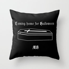 Coming home for Halloween Throw Pillow