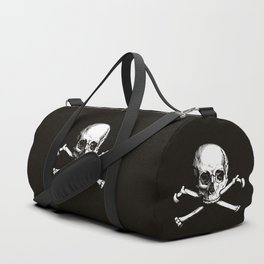 Skull and Crossbones | Jolly Roger | Pirate Flag | Black and White | Duffle Bag