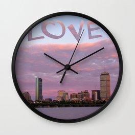 Love Boston Wall Clock