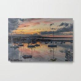 Sunset in Rockport Harbor 6-10-18 Metal Print
