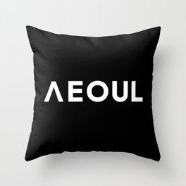 Seoul [Hangul] Throw Pillow