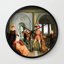 Washington Allston Scene from Shakespeare's The Taming of the Shrew (Katharina and Petruchio) Wall Clock