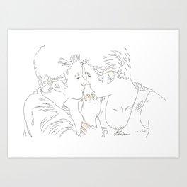 Kurt+Blaine Art Print