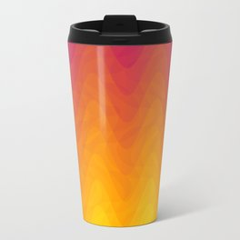 Pink and Yellow Ombre - Waves - Flipped Travel Mug