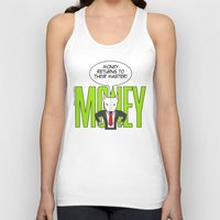 returns Tank Tops featuring Money returns by English Bull Terrier Lover