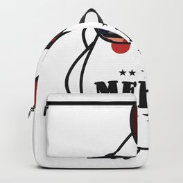 Merica Memorial Day Chicken Funny American Flag Backpack