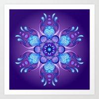 Mandala - Midnight Art Print