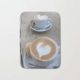 Sweet Cappuccino and a Heart Bath Mat
