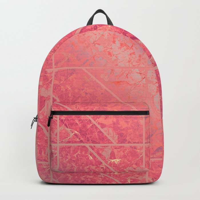 Pink Marble Texture G281 Backpack