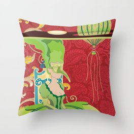 Portrait of Seraphin Throw Pillow