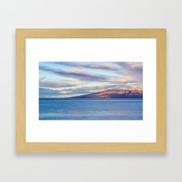 View of Lanai from Maui Framed Art Print