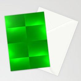 Shiny gradient Checks, green Stationery Cards