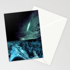 galaxy mountains teal Stationery Cards