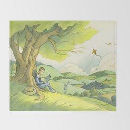 Tolkien In The Birmingham Hills Throw Blanket