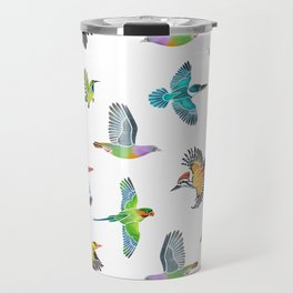 Colourful birds of Singapore Travel Mug